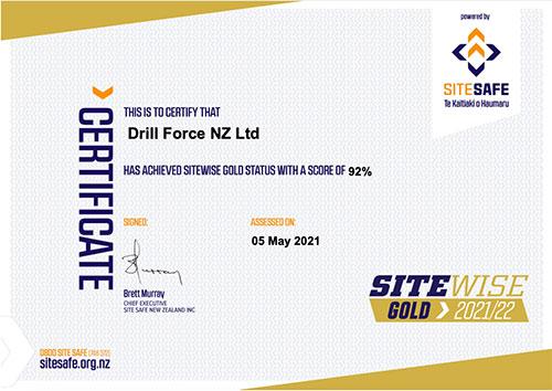 Image of Site Safe Certificate